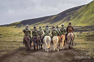 Iceland Horse Wall Art - Photograph - To Ride The Paths Of Legions Unknown by Evelina Kremsdorf