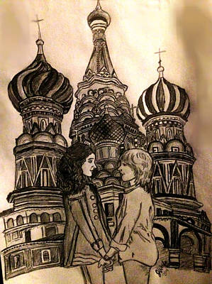 Lesbian Drawing - To Russia With Love by Jasmine Wolfe