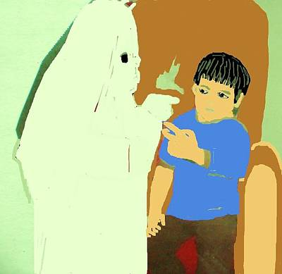 To Scare S Ghost Art Print