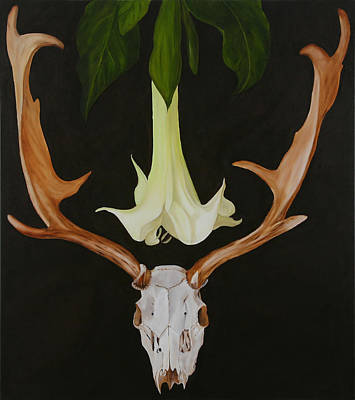 Datura Painting - To Sleep Under A Datura by Sue McDonald