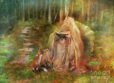 Fox Digital Art - To Spin A Tale by Aimee Stewart
