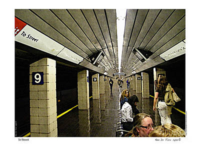 Art Print featuring the photograph To Street by Kenneth De Tore