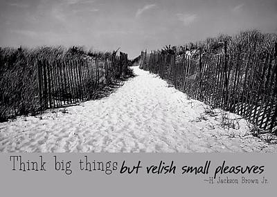 To The Beach Quote Print by JAMART Photography