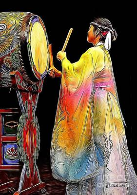 Mixed Media - Beat Of The Drum by Andrea Auletta