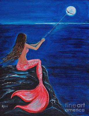 Painting - To The Moon And Back by Leslie Allen