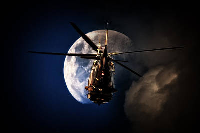 Agustawestland Aw109 Photograph - To The Moon by Paul Job