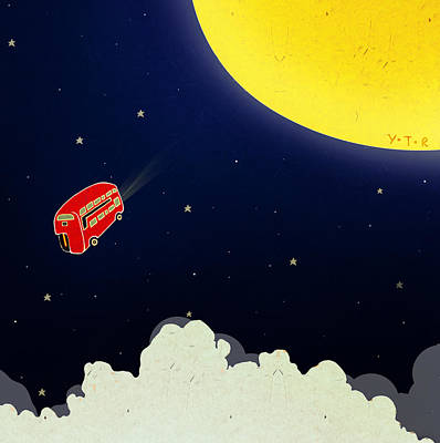 To The Moon Art Print by Yoyo Zhao