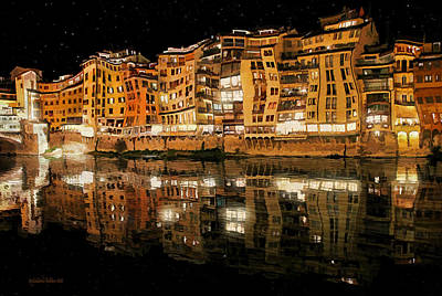 Photograph - To The Right Of Ponte Vecchio #2 by Aleksander Rotner