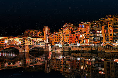 Photograph - To The Right Of Ponte Vecchio #3 by Aleksander Rotner