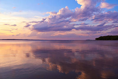 Cloud Like Glass Photograph - To The Right Of Sunset by Rachel Cohen