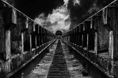 Bridge Road Photograph - To The Train by Mladjan Pajkic -