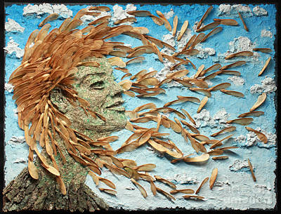 Female Mixed Media - To The Wind by Adam Long
