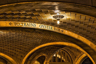 To Trains And Oyster Bar Art Print by Susan Candelario
