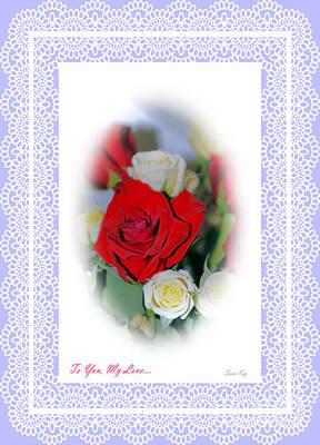 Photograph - To You My Love. Delicate Purple Card by Oksana Semenchenko