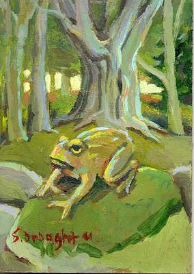 Stonewall Painting - Toad by Sara Drought Nebel