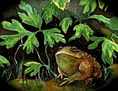 Wall Art - Painting - Toad Thoughts by Jakki Moore