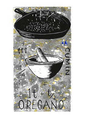 Cookbook Digital Art - Toast Cumin by David Esslemont