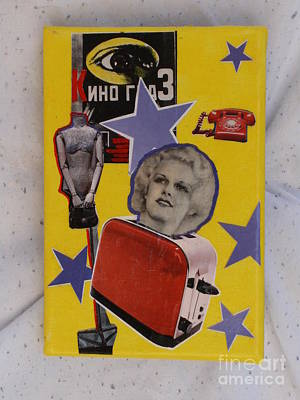 Toaster Mixed Media - Toast Of The Town Jean Harlow by Nicole Musser