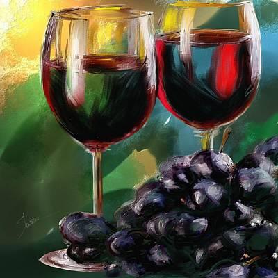 Toast Of Wine Art Print