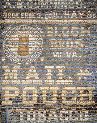 Mail Pouch Photograph - Tobacco Advertisement by Heather Applegate