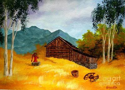 Disney Artist Painting - Tobacco  Barn by Shasta Eone