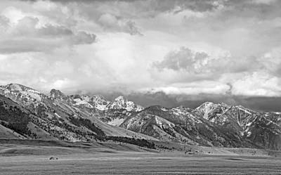 Photograph - Tobacco Root Mountains Montana Black And White by Jennie Marie Schell