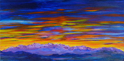 Tobacco Root Mountains Sunset Art Print