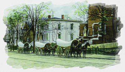 Photograph - Tobacco Schooners On Main St. by Lisa and Norman  Hall