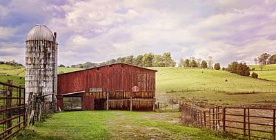 Panoramic Photograph - Tobacco Season by Heather Applegate