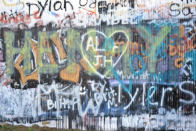 Photograph - Tobacco Warehouse Graffiti 1 by RD Erickson