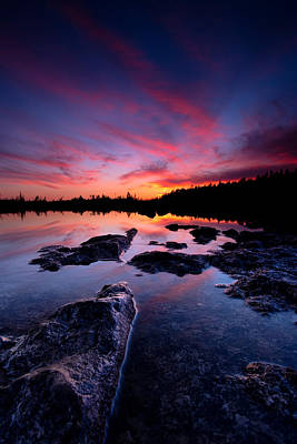 Lake Huron Photograph - Tobermory Sunset 2 by Cale Best