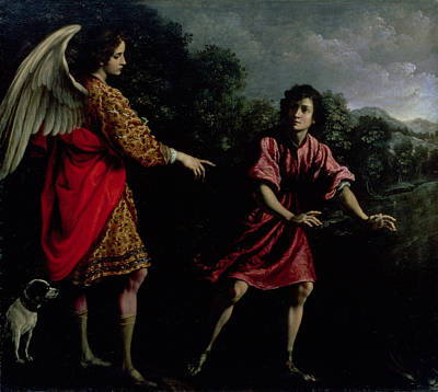 Nocturnal Painting - Tobias And The Angel by Francesco Corradi