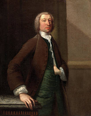 1743 Painting - Tobias Smollett, Perhaps By Robert Scaddon by Litz Collection