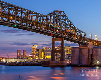 Photograph - Tobin Bridge At Dusk by Susan Cole Kelly