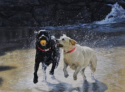 Wall Art - Painting - Toby And Poppy by Julian Wheat
