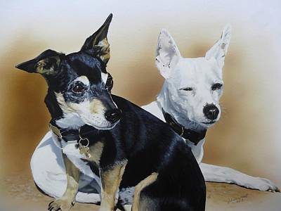 Wall Art - Painting - Toby And Smudge by Julian Wheat