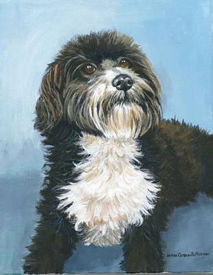 Havanese Painting - Toby Havanese Dog by JoAnn   Morgan