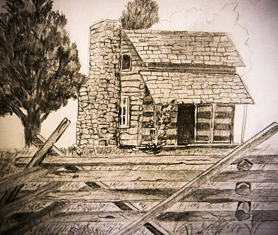 Drawing - Tobys Place by Suzie Hanscom