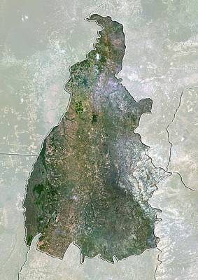 Tocantins, Brazil, Satellite Image Art Print by Science Photo Library
