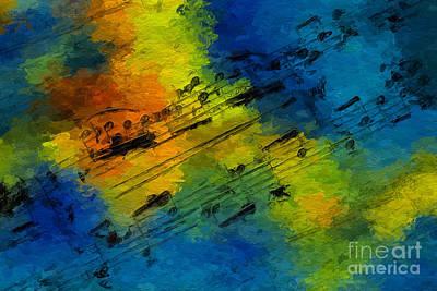 Toccata In Blue Art Print