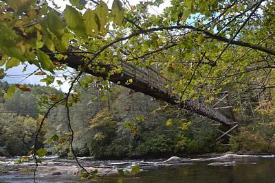 Toccoa River Swinging Bridge Art Print