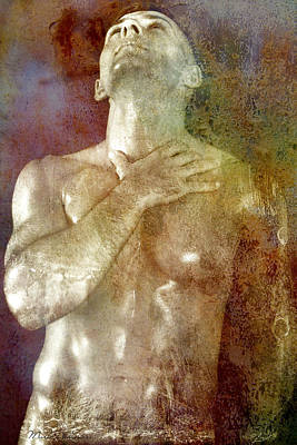 Gay Digital Art - Mystery Prayer by Mark Ashkenazi