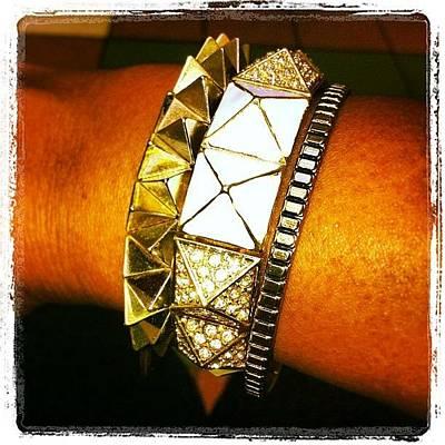 Jewelry Photograph - Today's #armcandy #bracelets #jewelry by Lianne Farbes