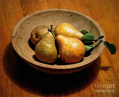 Today's Pears Art Print by Gwyn Newcombe