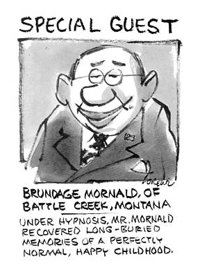 Smiling Drawing - Today's Special Guest Brundage Mornald by Lee Lorenz
