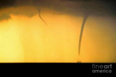 Todays Weather Sunny But Strong Chance Of A Water Spout Or Two Art Print by Michael Hoard