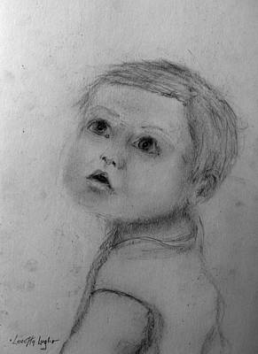 Drawing - Toddler Boy by Loretta Luglio