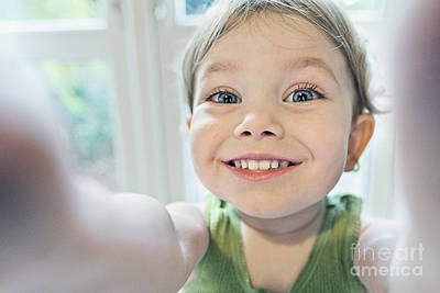 Self-portrait Photograph - Toddler Selfie by Justin Paget