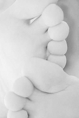 Toe Curves - Black And White Art Print by Natalie Kinnear