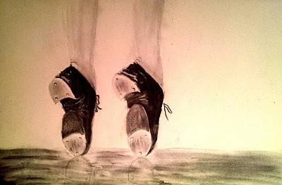 Toe Stand Art Print by Matthew Venus